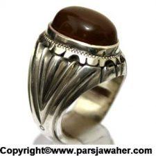 انگشتر مردانه جزع یمنی 1042