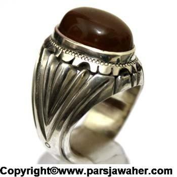 انگشتر مردانه جزع یمنی 3018