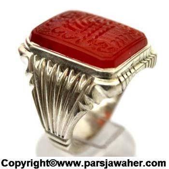 انگشتر عقیق خطی میرزا 2850