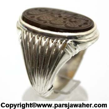 انگشتر جزع یمانی خط نایب 80072