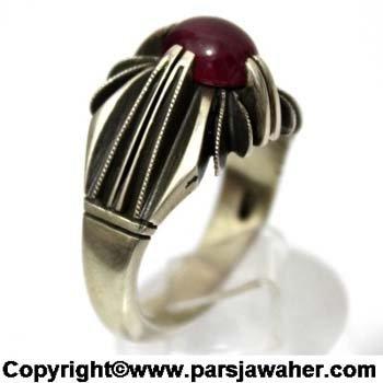 انگشتر یاقوت سرخ 348
