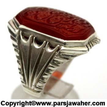 انگشتر دست ساز نقره 2837