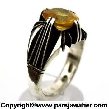 انگشتر مردانه یاقوت زرد 334