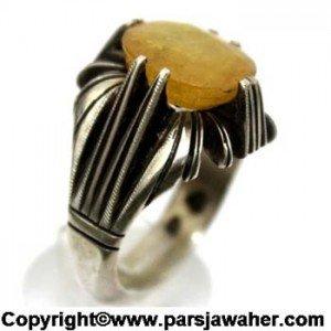 انگشتر یاقوت زرد رکاب دو چنگ ..۳۳۵