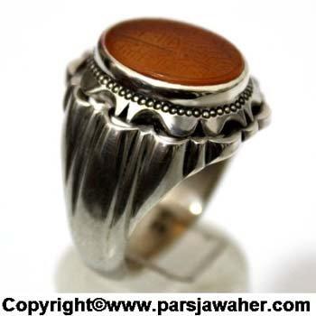 انگشتر مردانه عقیق 2010
