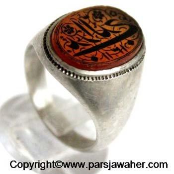 انگشتر قدیمی حکاکی دستی قاجاری 2318