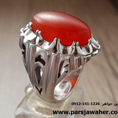 انگشتر مردانه نقره دست ساز 103