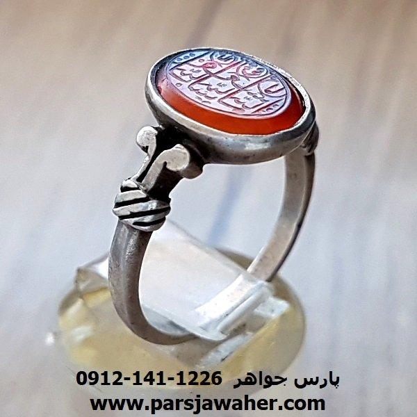 انگشتر خطی قدیمی عقیق یمنی f143
