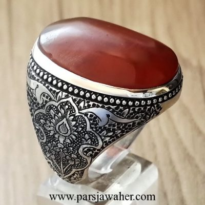 original old yemeni agate silver ring 1109