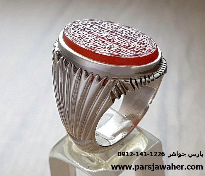 انگشتر نقره ذوالفقاری سید حسین 8214