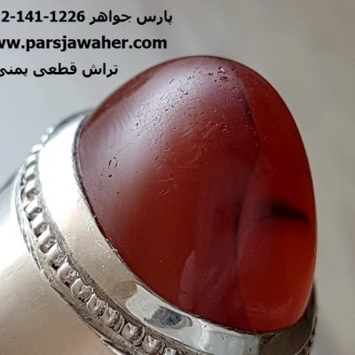 انگشتر عقیق آنسی تراش دار یمنی 101