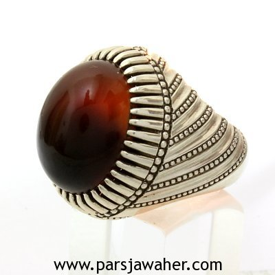 Yemeni Anss Agate Silver Ring 3001