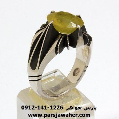 انگشتر یاقوت زرد رکاب فدیوم 325