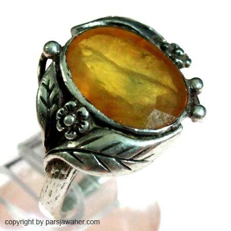 انگشتر قدیمی یاقوت زرد رکاب صفوی 1021