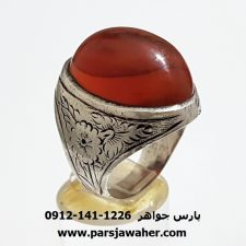 انگشتر قديمي عقيق يمن اصل a338