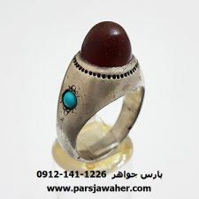 انگشتر آنتیک عقیق یمنی a342