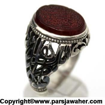 انگشتر مردانه نقره 2243
