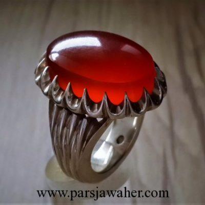انگشتر نقره مردانه دست ساز 103