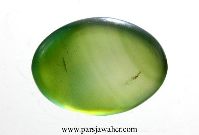 سنگ عقیق سبز رنگ شده