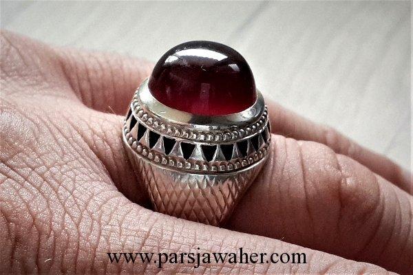 انگشتر مردانه فدیوم عقیق یمنی 3909