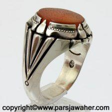 انگشتر مردانه عقیق خطی 8512