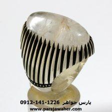 انگشتر نقره مردانه دُرّ نجف f151