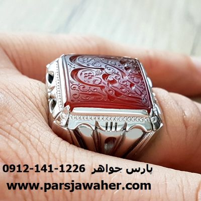 انگشتر مردانه خطی نقره 7006