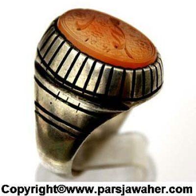 انگشتر مردانه نقره 2337