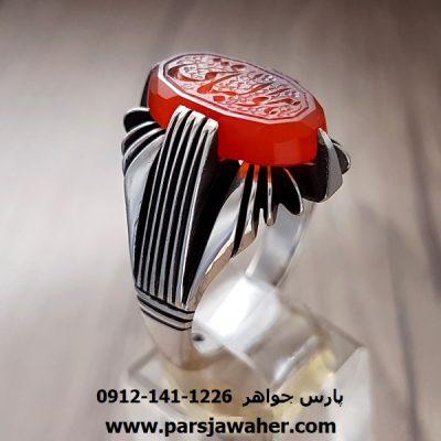 انگشتر خطی عقیق یمنی 7003