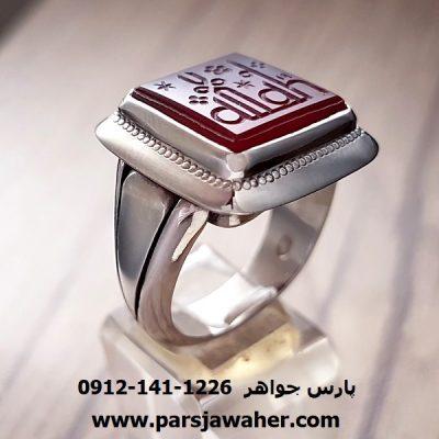 انگشتر خطی عقیق یمنی 7011