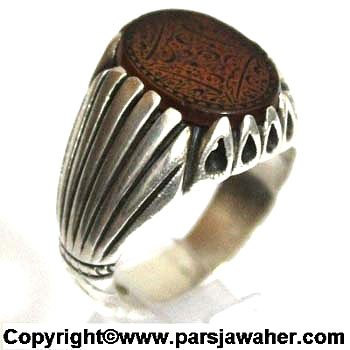 انگشتر مردانه نقره 2204