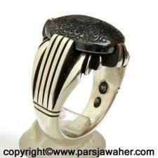 Engraved Hadid Silver Ring 88513