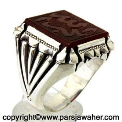 انگشتر مردانه کوپال جزع یمانی 8607