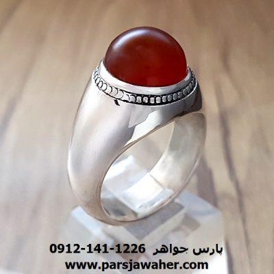 انگشتر عقیق یمنی کد a156