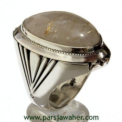 انگشتر مردانه نقره دست ساز درّ مودار 262