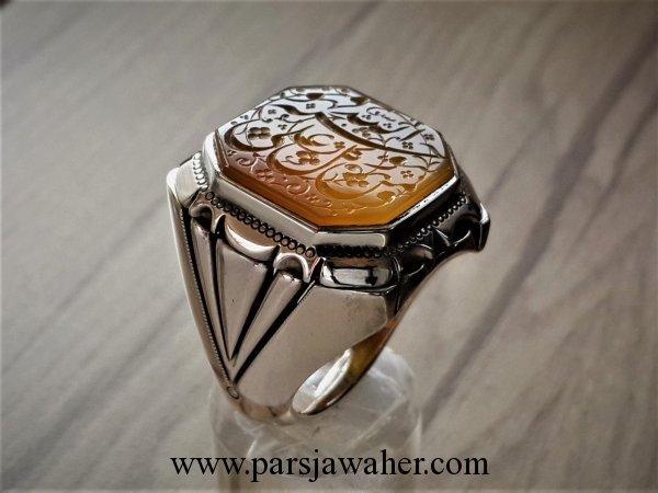 انگشتر مردانه نقره دستساز 8268