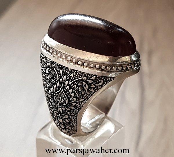 انگشتر مردانه نقره دست ساز عقیق 109910