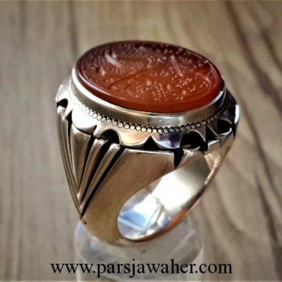 انگشتر نقره مردانه دست ساز 8051
