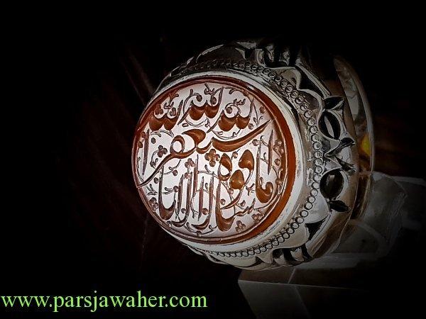 انگشتر مردانه نقره دست ساز 8252