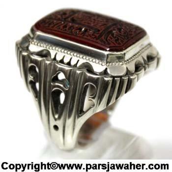 انگشتر مردانه دست ساز نقره 2826