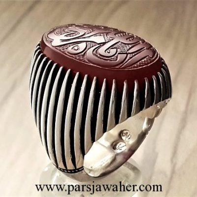 kopal engraved handmade men's silver ring 146