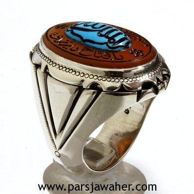 انگشتر مردانه نقره دست ساز 352