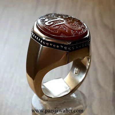 انگشتر مردانه دست ساز رکاب نقره 8642