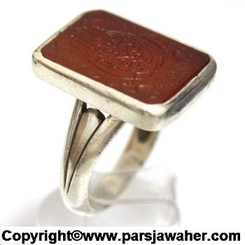 انگشتر نقره مردانه دست ساز 2008