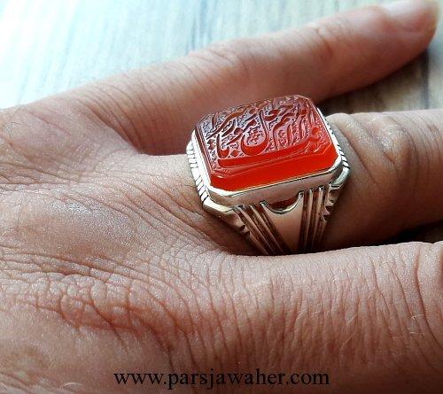 انگشتر عقیق خط میرزا 2867
