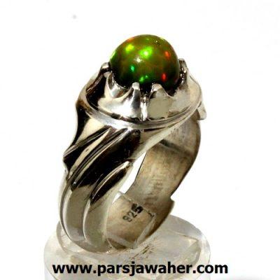 انگشتر مردانه نقره اوپال اصل 266