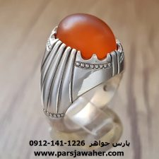 انگشتر مردانه عقیق یمنی فدیوم 146