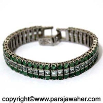 parsjawaher-emerald_Silver_Bracelet 1989