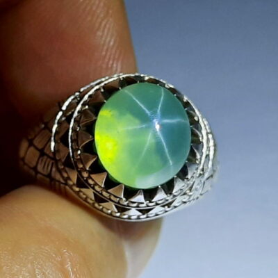 انگشتر یاقوت سبز استار 371.2
