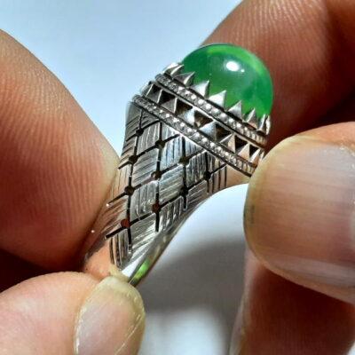 انگشتر یاقوت سبز استار 371.3